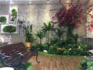 室内户外仿真植物墙 墙面艺术的应用