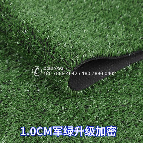 人造草坪 1.0CM军绿升级加密