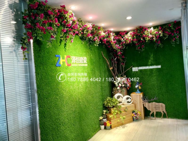泽恒建设 仿真植物墙