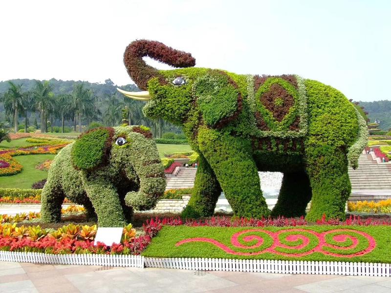 赣州城市公园 仿真绿雕