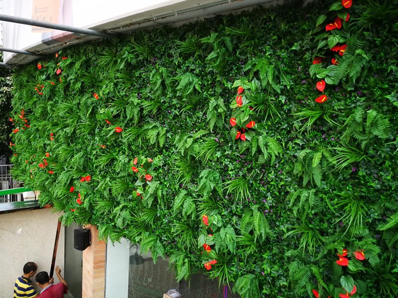 广州太兴九龙冰室 仿真植物墙