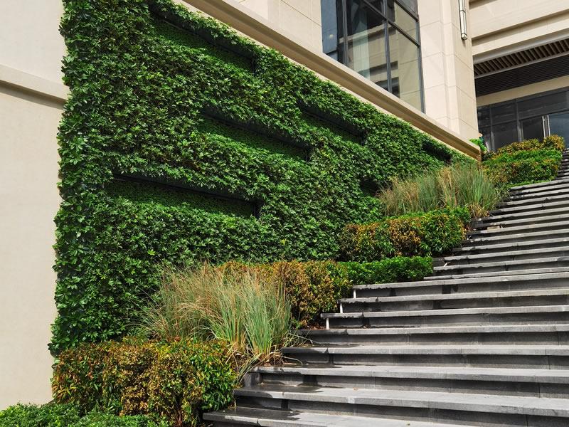 广州垂直绿化工程 番禺植物墙设计